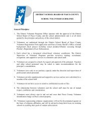 12-13 Volunteer Guidelines copy - Pasco County Schools