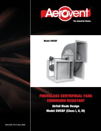 Fiberglass Fan Airfoil (Model SWCBF) - Catalog 743 - Aerovent