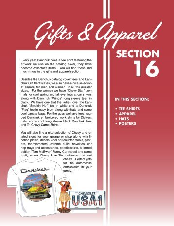 16. Gifts, Novelties And Apparel - Danchuk