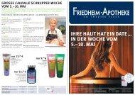IN DER WOCHE VOM 5.–10. MAI - Friedheim Apotheke
