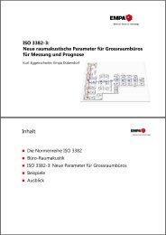 ISO 3382-3/ Neue raumakustische Parameter für Grossraumbüros