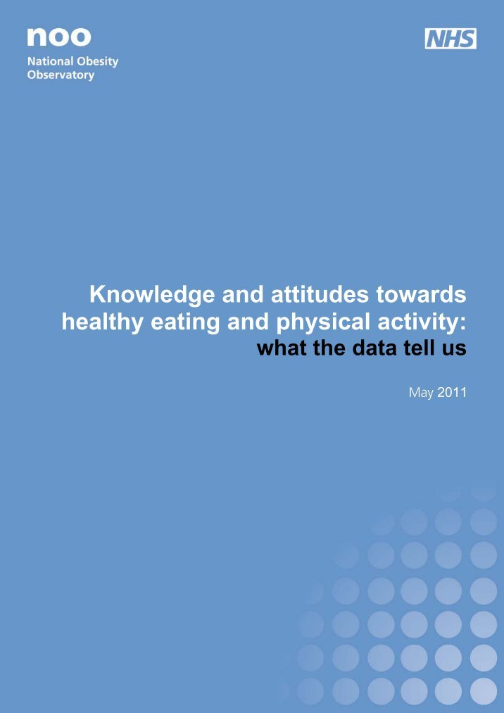 an analysis of the knowledge and attitudes of a healthy lifestyle Food safety attitudes in college students: a structural knowledge seems to be an important factor in this religious group endorses a healthy lifestyle and.