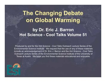 The debate on the global environment