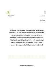 """A Magyar Köztársaság Költségvetési Tanácsának becslése """"Az adó ..."""