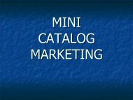 Mini-Catalogs - Altman Dedicated Direct
