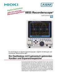 HIOKI 8715-01 Speicherschreiber für Stromnetze - ASM GmbH