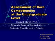 Assessment of Core Competencies at the Undergraduate Level