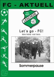 Sommerpause - Fc-47-Leschede