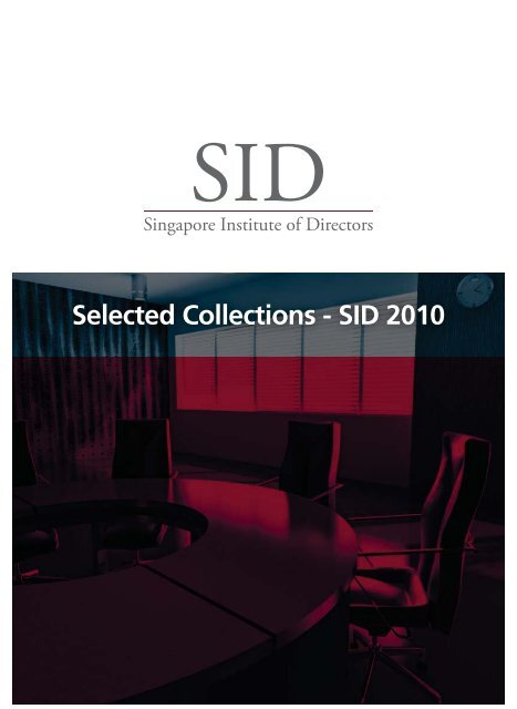 Selected Collections - SID 2010 - Singapore Institute of Directors