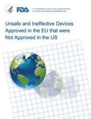 Unsafe and Ineffective Devices Approved in the EU - Association of ...
