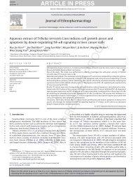 Aqueous extract of Tribulus terrestris Linn induces cell growth arrest ...
