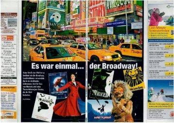 Kronen Zeitung - New York - Es war einmal der Broadway