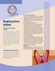 Radioactive Iodine Brochure - American Thyroid Association