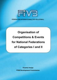 Organisation of Competitions & Events for National ... - FIVB