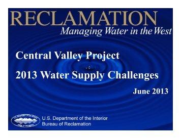 Workshop - June 18, 2013 - Westlands Water District