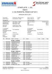 STARTLISTE 1. DG Slalom 2. SC-RHEINTAL-RSGD ... - WSV Altach