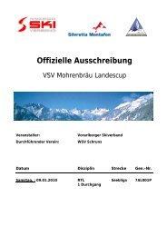 Offizielle Ausschreibung - Wsvaltach.at