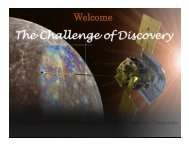See presentation - Discovery Program - NASA