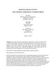 regional disadvantage? non-compete agreements and brain drain