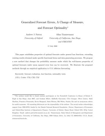 Generalized Forecast Errors, A Change of Measure, and Forecast ...