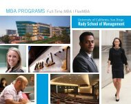 MBA Brochure - Rady School of Management - UC San Diego