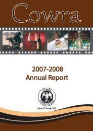 Annual Report 2007 / 08 - Cowra Council