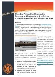 Arnish Planning Protocol (PDF, 1.45M) - Comhairle nan Eilean Siar