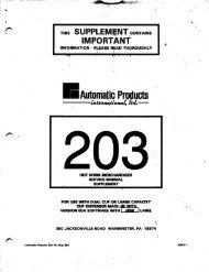 Model 203 Hot Drink Merchandiser Service Manual Part B - Vending ...