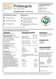 Prüfzeugnis - Pader Kompost