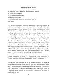 Discours prononcé lors de l'inauguration par Christina Robalo ... - AUF