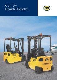 XE 13 - 20ac Technisches Datenblatt - Gabelstapler-Center Kamen