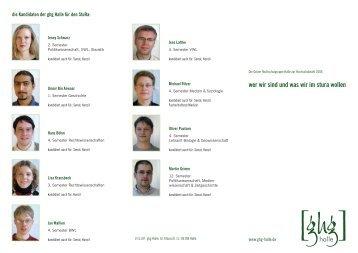 wer wir sind und was wir im stura wollen - Grüne Hochschulgruppe ...