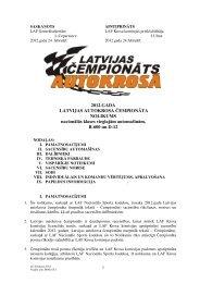 2012.GADA LATVIJAS AUTOKROSA ČEMPIONĀTA NOLIKUMS ...