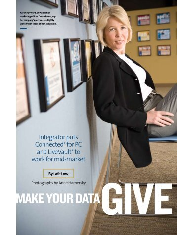 Make Your Data Give Back - CenterBeam