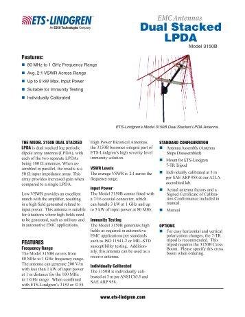 3150B Dual Stacked LPDA Antenna - ETS-Lindgren