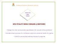 BPR Vitality index (ORgans & emOtiOns)