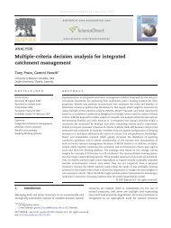 Multiple-criteria decision analysis for integrated catchment ...