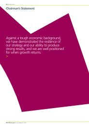 Against a tough economic background, we have ... - Atkins 2010 report