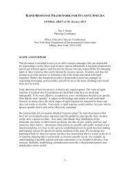 RAPID RESPONSE FRAMEWORK - InvasiveSpecies.gov!