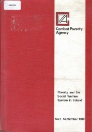 Poverty and the Social Welfare System in Ireland (1988)