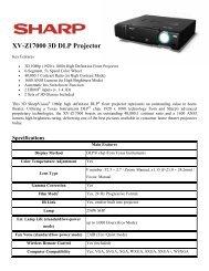XV-Z17000 3D DLP Projector - Network Spectrum, Inc.
