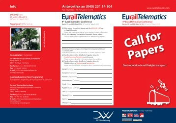 Call for Papers - EurailTelematics.com