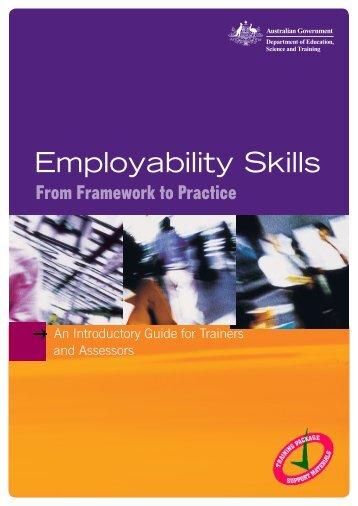 Employability Skills - From Framework to Practice - National Skills ...