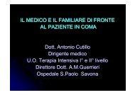 IL MEDICO E IL FAMILIARE DI FRONTE AL PAZIENTE IN COMA ...