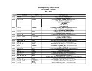 Paulding County School District Assessment Calendar 2012-2013
