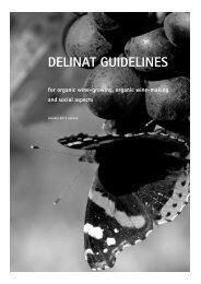 DELINAT GUIDELINES for organic wine-growing, organic wine ...