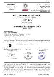 EC TYPE EXAMINATION CERTIFICATE - De Wolf Maritime Safety