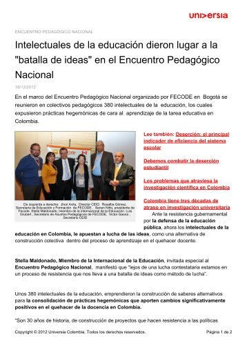 en el Encuentro Pedagógico Nacional - Noticias - Universia