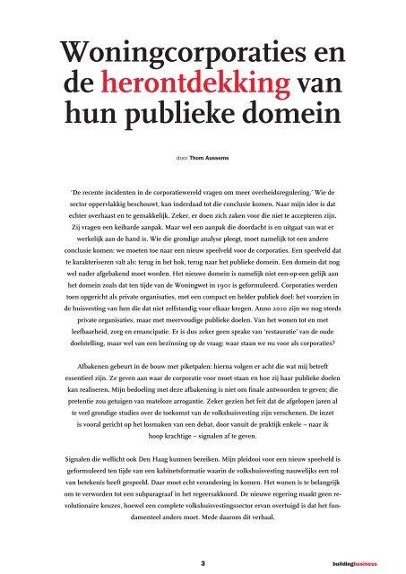 Corporaties en de herontdekking van het publieke domein