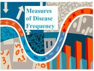 Measures of disease frequency - Caribvet